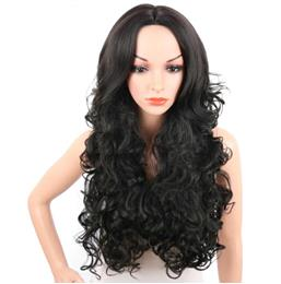 28Inch Long Synthetic Wigs For Women Bouncy Curly Natural  Hair Wigs