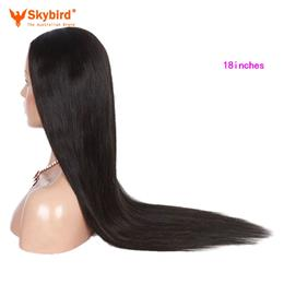 Skybird 18 inches Virgin Brazilian Straight Full Lace Human Hair Wigs Fo...