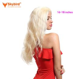 Skybird 14-16 inches Hair Products Body Wave Virgin Hair Pre-Plucked 360...
