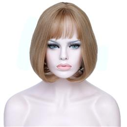 Women Heat Resistant Blonde Short Synthetic Wigs For White Women