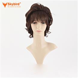 Skybird Fashion Natural Full Wig Stylish Casual Hair Brown Short Curly Wig