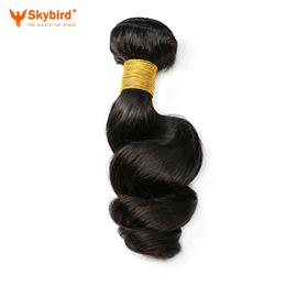 10inches Brazilian Loose Wave Remy Human Hair Weave Bundles 1PC Extension For Women