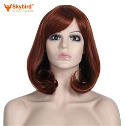 Skybird 100% High Temperature Fiber Women's Cosplay Curly Short Synthetic BOB Hair Wigs Christmas Party