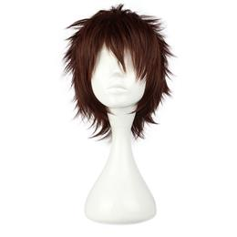 30CM Short Synthetic Straight Brown Cosplay Wig
