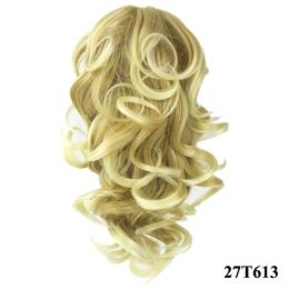 8 Color Curly High Temperature Fiber Synthetic Hair Pony Tail Hairpiece Blonde Gray Clip In Hair Extensions Claw Ponytail