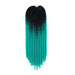 """22"""" Synthetic Ombre Two Tones Black Natural MamboTwist Crochet Braids Hairstyles 120g Braiding Hair Extension"""