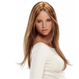 Hair Women Long Wavy Wig Synthetic Hair Brown Blonde Mix Heat Resistant Fiber 24inch Long