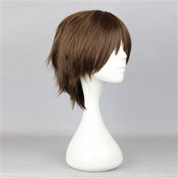 30cm Short Synthetic Dark Brown 100% High Temperature Fiber Wig
