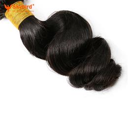 16inches Loose Wave Brazilian Remy Human Hair Weave Bundles No Tangle Can be Dyed