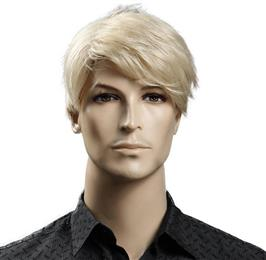 6inch Synthetic Short Blonde Wig Natural Hair Men Straight hairStyles