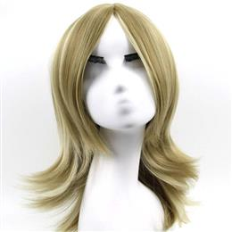 "16"" Synthetic Hair For Women Wig Short Wavy blonde Mix wig Free Shi..."