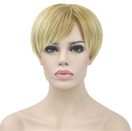 Straight Synthetic Hair Short Wigs Heat Resistance Fiber Hair Blonde Burgundy Cosplay Wig Party Hair for Women