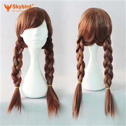 Skybird Brown Color Heat Resistant Synthetic Braiding Hair Cosplay Wig 1...