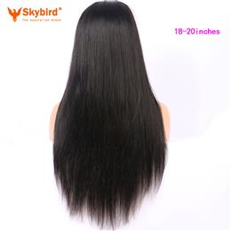 Skybird 18-20 inches   250% Density 360 Lace Frontal Wig Pre Plucked With Baby Hair Straight Natural Hairline Brazilian Remy Hair Wigs