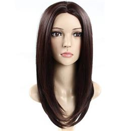 Synthetic Wig Yaki Straight Brown Wig for Women Can Straighted Cosplay h...