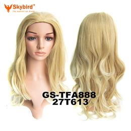 Skybird Long Wavy Synthetic Hair Heat Resistance 3/4 Half Wigs