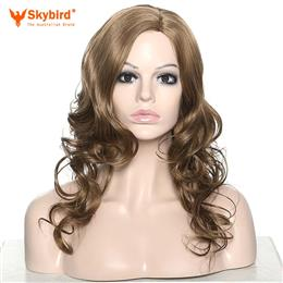 Skybird Women Long High Temperature Fiber Curly Hair Synthetic Wigs for Cosplay