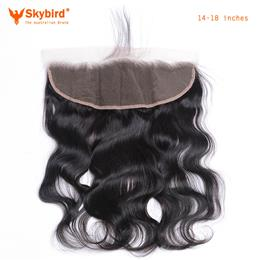 Skybird 14-18Brazilian Lace Frontal Closure Body Wave 1 3 x4 Free Part  Human Hair Bundles Bleached Knot