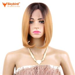 Skybird 10inch Synthetic Short Bob Wigs for  Women Straight Lace Front W...