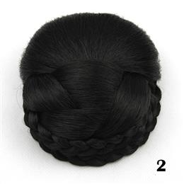 6 Colors Synthetic Hair Braided Clip In Hair Bun Chignon Hairpiece Donut Roller Hairpiece