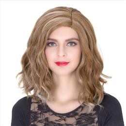 Non-mainstream Anime COS Wig Halloween Theme Wig Short Curly Hair Brown Highlights