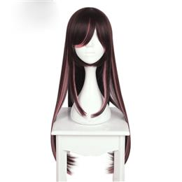 80CM Long Straight Dark Red Color Cosplay Synthetic wig