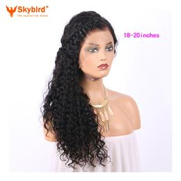 Skybird 18-20 inches Hair 360 Lace Frontal Wigs With Baby Hair 250% Den...