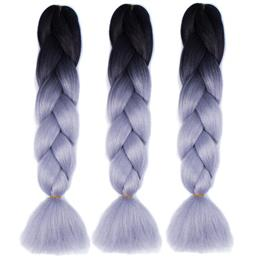 Synthetic Ombre Kanekalon Braiding Hair Crochet Box Braids Hairstyles Hair Extensions