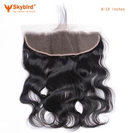 Skybird 8-12Brazilian Lace Frontal Closure Body Wave 1 3 x4 Free Part  Human Hair Bundles Bleached Knot
