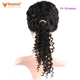 Skybird 14-16 inches Hair Brazilian Deep Wave Pre Plucked 360 Lace Fron...