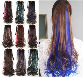 8 Colors Curly High Temperature Fiber Hair Ponytail Synthetic Hair Pony Tail Clip in Hair Extension Party Hair Piece