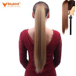 Skybird Synthetic Claw Clip Ponytail 24Inches Available Straight Hairstyle High Temperature Fiber