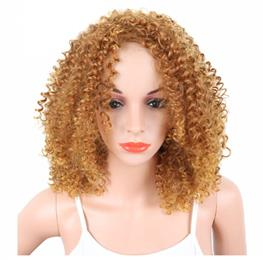 Short Afro Kinky Curly Synthetic Women's Wigs Black Blonde Color Non...