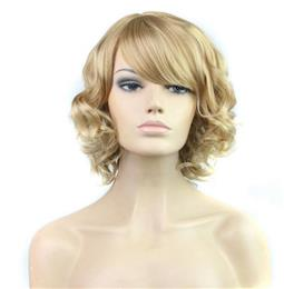 Synthetic Short Wavy Wig Short Synthetic Wigs for  Women High Temperatu...