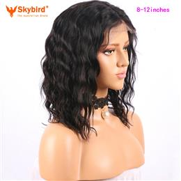 Skybird 8-12 inches Short Lace Front Human Hair Wigs For Women Brazilian Remy Bob Wig With Baby Hair Pre Plucked Hairline