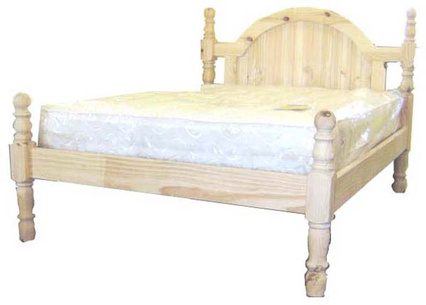 Camden Queen Bed in Raw Pine