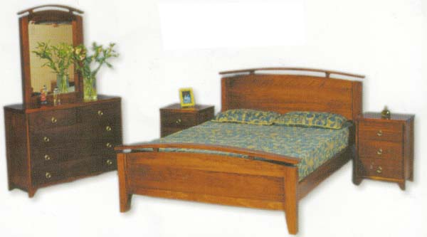 Destiny 4 Piece Queen Bedroom Suite with Solid Pine (Clear Grade)