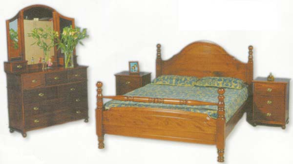 Enchant 4 Piece Queen Bedroom Suite with Solid Pine (Clear Grade)