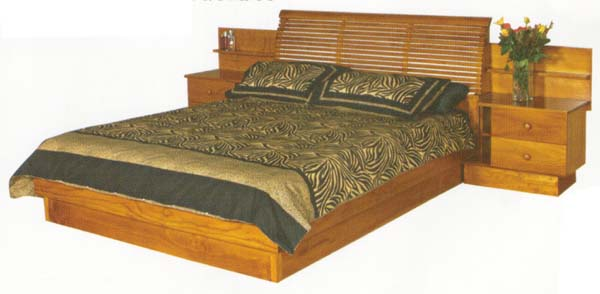 Natio 3 Piece Queen Bedroom Suite with Solid Pine (Clear Grade)