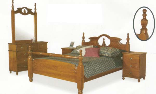 Nova 4 Piece Queen Bedroom Suite with Solid Pine (Clear Grade)
