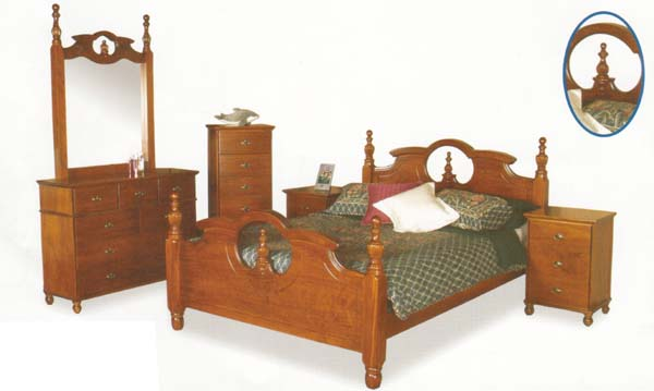 Orbit 5 Piece Queen Bedroom Suite with Solid Pine (Clear Grade)