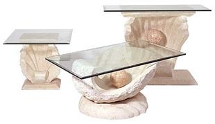 Clam Shell Rect. Coffee, End and Sofa Table
