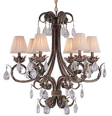 Royal Mansion 6 light Chandelier Shades sold seperately.