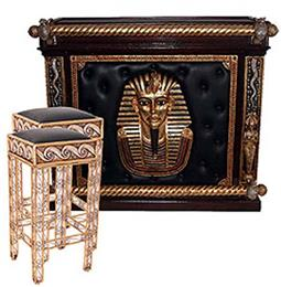 Egyptian themed Bar and Barstools