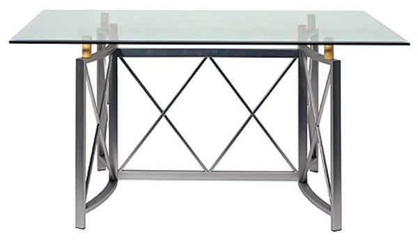 Metro Dining Table with Glass Top