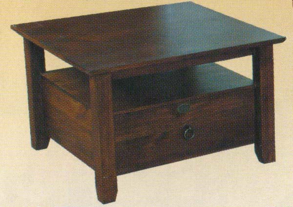 Alpine Lamp Table with 1 Drawer