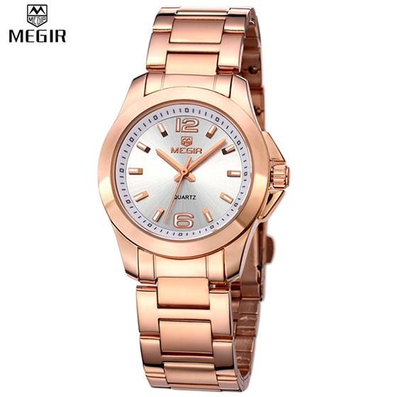 Women Watches Luxury Couple Dress Wristwatch Clock for Women Quartz Ladies Watch for Lovers, Stainless steel Band