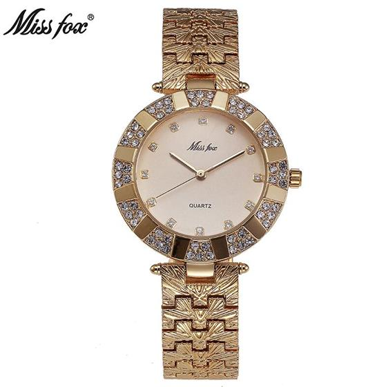 37mm Women Watches Fashion Japan Quartz Gold Ladies Watch Women Stainless Steel Waterproof , Miss Fox Original