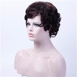 10 inch Short Brown Wigs for Women Curly Cosplay Wig